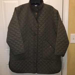Women's Plus Size Insulated Quilted Barn Coat